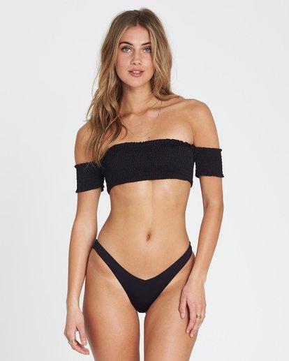 0 Sol Searcher Off Shoulder Strapless Bikini Top Black XT03SBSO Billabong