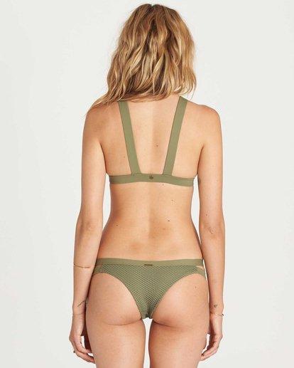 3 Meshin With You High Neck Bikini Top Green XT07KMES Billabong