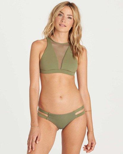 1 Meshin With You High Neck Bikini Top Green XT07KMES Billabong