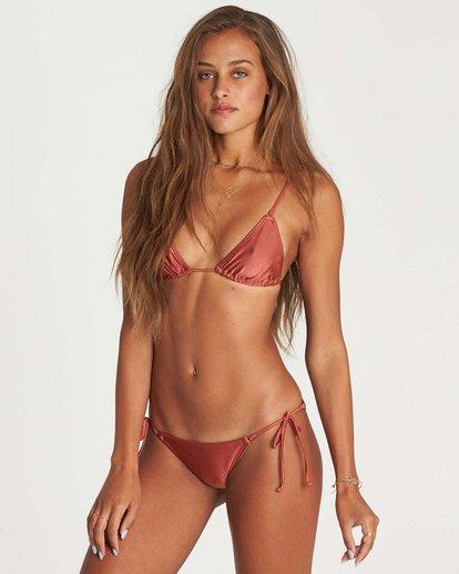 1 Love Bound Tiny Tri Bikini Top Brown XT28NBLO Billabong