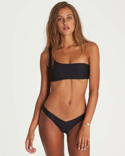 0 Tanlines One Shoulder Bikini Top Black XT42NBTA Billabong