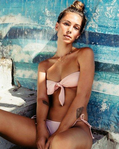 0 Sol Searcher Knot Me Bandeau Bikini Top Pink XT50NBSO Billabong