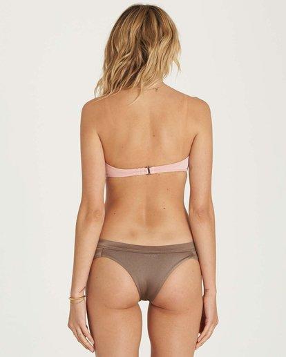 3 Sol Searcher Knot Me Bandeau Bikini Top Pink XT50NBSO Billabong