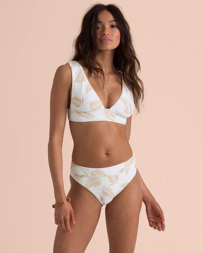 1 Sincerely Jules Dos Palmas Plunge Bikini Top Yellow XT54TBDO Billabong