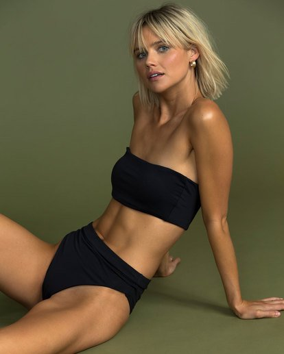 0 Sol Searcher Sunny Tube Bandeau Bikini Top Black XT62TBSO Billabong
