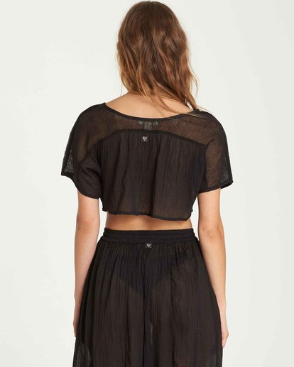 3 See You There Sheer Crop Top Black XV01QBSE Billabong