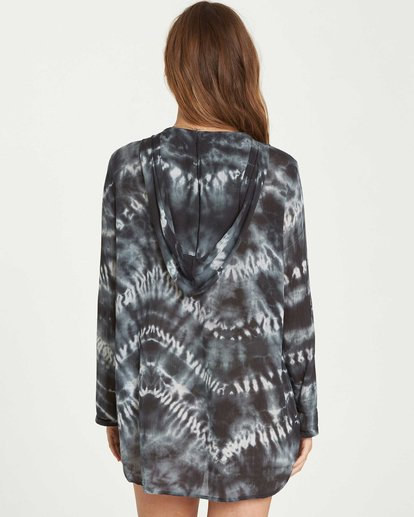 2 Same Story Hooded Cover Up Black XV02NBSA Billabong