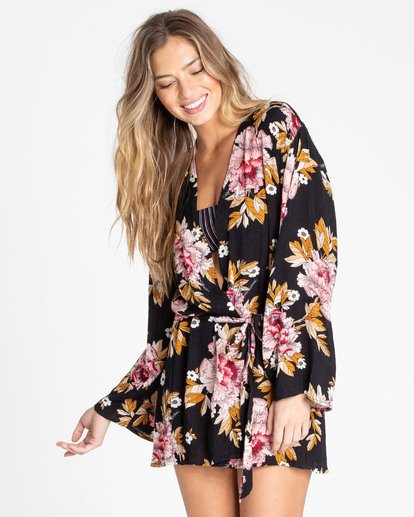 1 Ocean Sky Robe Cover Up Black XV03TBOC Billabong