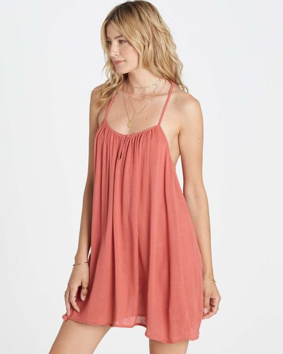 1 Seven Seas Cover Up Dress Red XV04LSEV Billabong