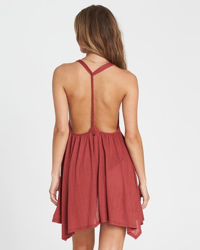 2 Twisted View T-Back Sun Dress Red XV04NBTW Billabong