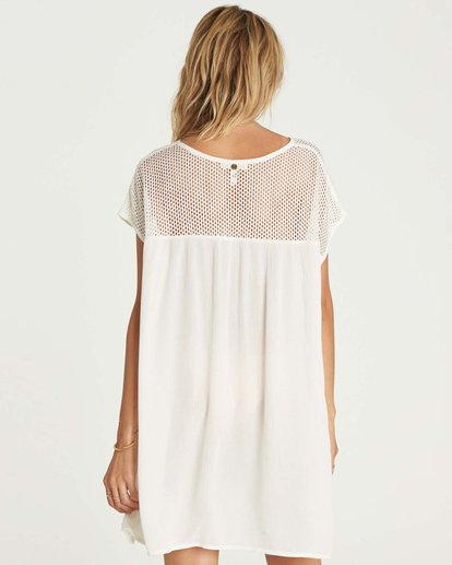 2 Meshin Around Cover Up Dress Beige XV05NBME Billabong