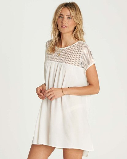 1 Meshin Around Cover Up Dress Beige XV05NBME Billabong