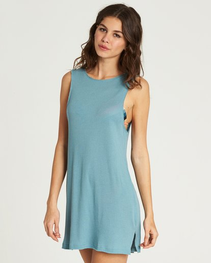 2 Lost At Sea Cover Up Dress Green XV12PBLO Billabong