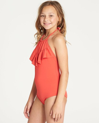 1 Girls' Sol Searcher One Piece Swim Red Y101TBSO Billabong