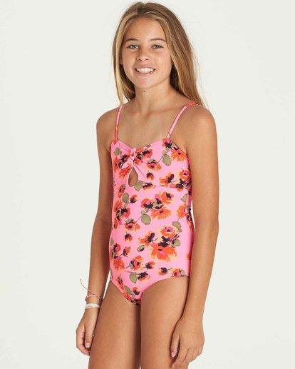 1 Girls' Bella Beach One Piece Swim Pink Y104PBBE Billabong