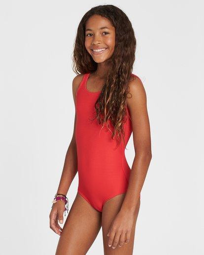 1 Girls' Line Up One Piece Swim Red Y104SBLI Billabong