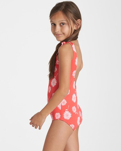 1 Girls' Daisy Day One Piece Swim Red Y104TBDA Billabong