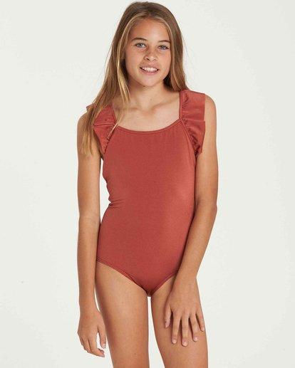 0 Girls' Shine One Piece Swim Brown Y108QBSH Billabong