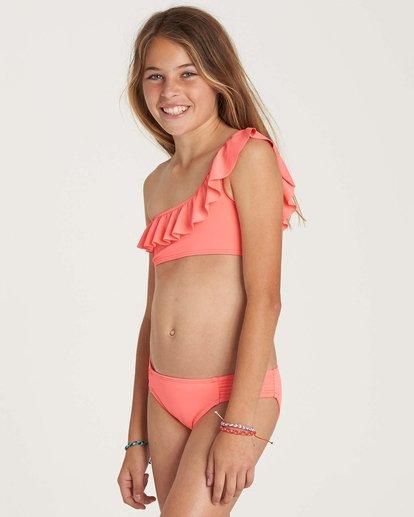 1 Girls' Sol Searcher One Shoulder Swim Set Pink Y202NBSO Billabong