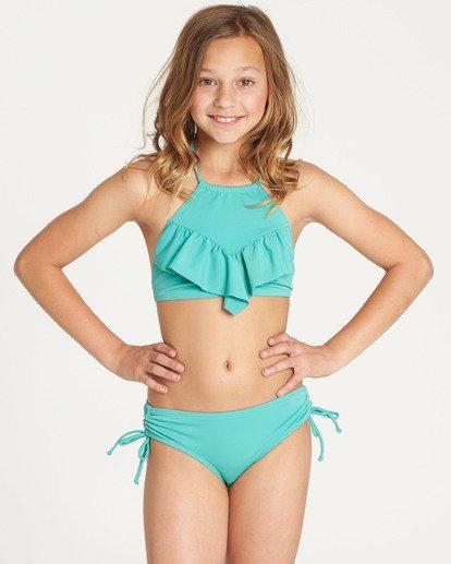 4 Girls' Sol Searcher High Neck Bikini Set Green Y202TBSO Billabong