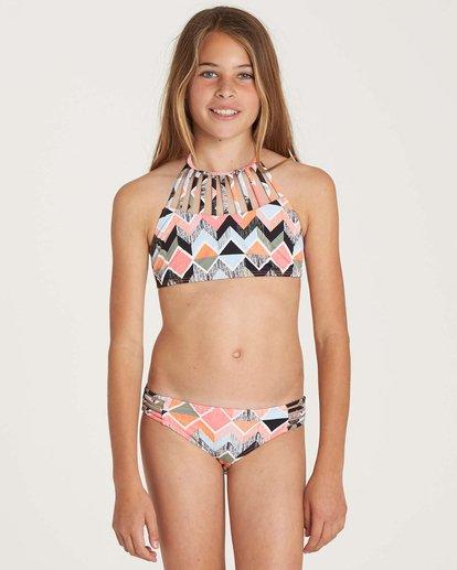 1 Girls' Zigginz High Neck Swim Set  Y204NBZI Billabong