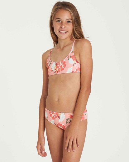 1 Girls' All Along Crossback Swim Set  Y204QBAL Billabong