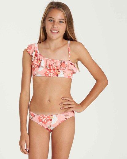 0 Girls' All Along Ruffle Swim Set  Y205QBAL Billabong