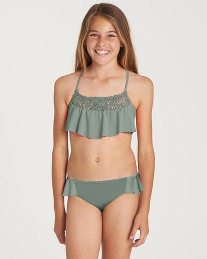 0 Girls' Macrame Madness Flutter Swim Set Green Y210NBMA Billabong
