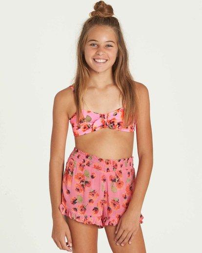 4 Girls' Bella Beach Bandeau Swim Set Pink Y212PBBE Billabong