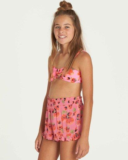 2 Girls' Bella Beach Bandeau Swim Set Pink Y212PBBE Billabong