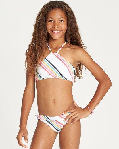 5 Girls' Seeing Rainbows High Neck Bikini Set  Y224TBSE Billabong