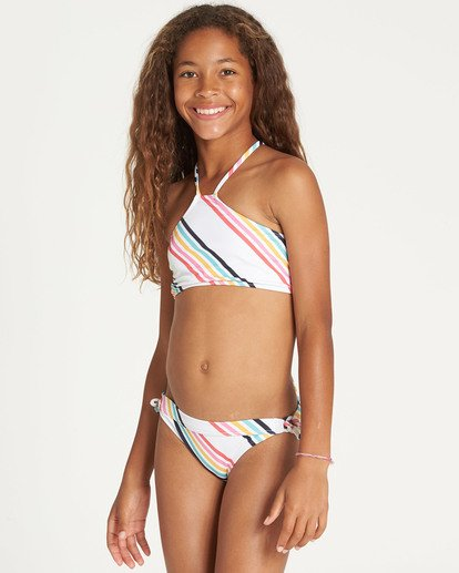 1 Girls' Seeing Rainbows High Neck Bikini Set  Y224TBSE Billabong