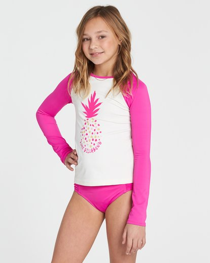1 Girls' Sol Searcher Rashguard Pink YR02SBSO Billabong