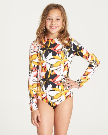 0 Girls' Eastern Sun Bodysuit Rashguard  YR03TBEA Billabong
