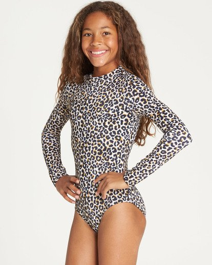 1 Girls' Wild Sun Bodysuit Rashguard  YR04TBWI Billabong
