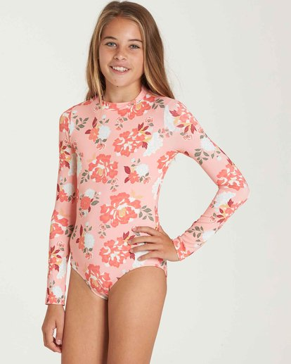 1 Girls' All Along Bodysuit Rashguard  YR05QBAL Billabong