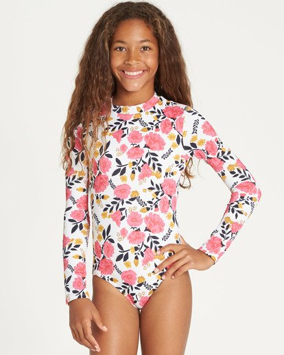 0 Girls' Sun Dream Bodysuit Rashguard  YR05TBSU Billabong