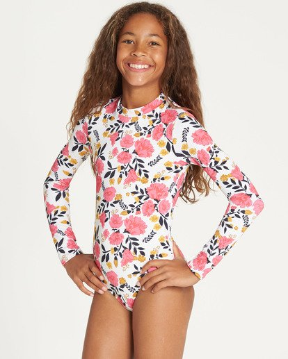 2 Girls' Sun Dream Bodysuit Rashguard  YR05TBSU Billabong