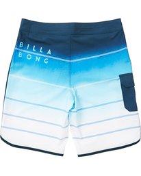 1 Boys' 73 X Stripe Boardshorts Blue B129NBSS Billabong