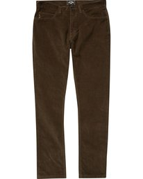 0 Boys' Outsider Cord Pants Brown B316QBOU Billabong