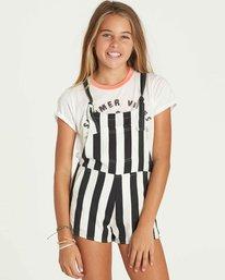 0 Girls' Roamin Overall Shorts  G201PBRO Billabong