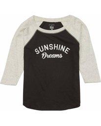 1 Girls' Sunshine Dreams Raglan Tee  G418MSUN Billabong