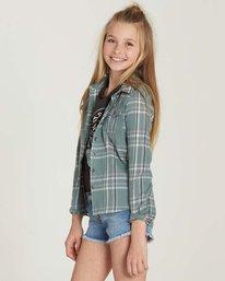 1 Girls' Cozy Up Flannel Shirt Beige G502MCOZ Billabong