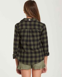 2 Girls' Buttoned Up Top Green G503QBBU Billabong