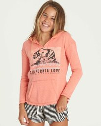0 Girls' Days Off Hoodie Pink G602PBDA Billabong