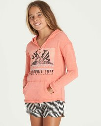 1 Girls' Days Off Hoodie Pink G602PBDA Billabong