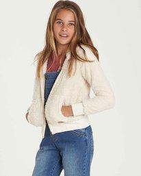 1 Girls' Cozy Town Fleece Beige G606QBCO Billabong