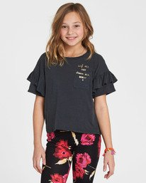 0 Girls' Tee Time Pocket Tee Black G902QBTE Billabong