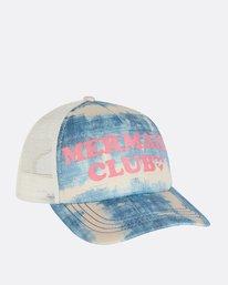 6 Girls' Ohana Trucker Hat Blue GAHWNBOH Billabong