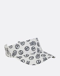6 Girls' Peace Out Visor Beige GAHWPBPE Billabong